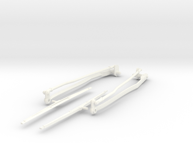Airwolf Scale Wiper 60 Size in White Strong & Flexible Polished