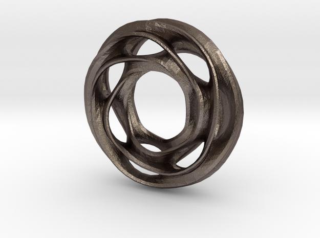 Scherk D in Polished Bronzed Silver Steel