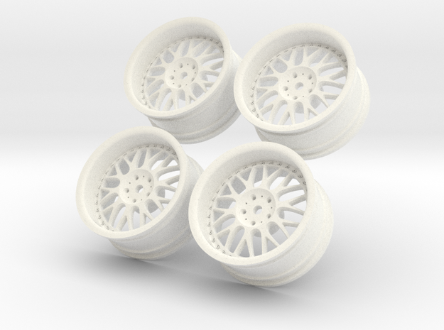 1/10 Touring Car Work Wheels VSXX VS-XX in White Processed Versatile Plastic