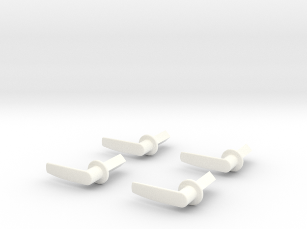 Scale Helicopter Handle L17mm in White Strong & Flexible Polished
