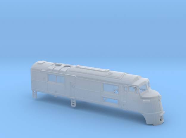 N Scale CNJ Baby-faced Baldwin A Unit in Smooth Fine Detail Plastic
