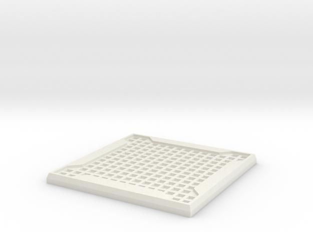 Sci-fi Mesh Floor Tile in White Strong & Flexible