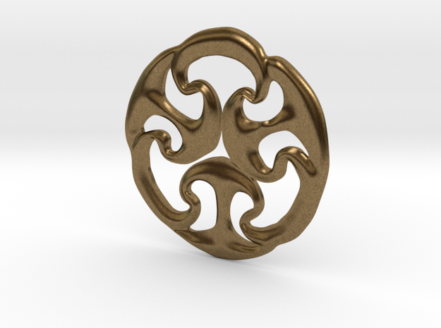 Ancient triskele in Natural Bronze