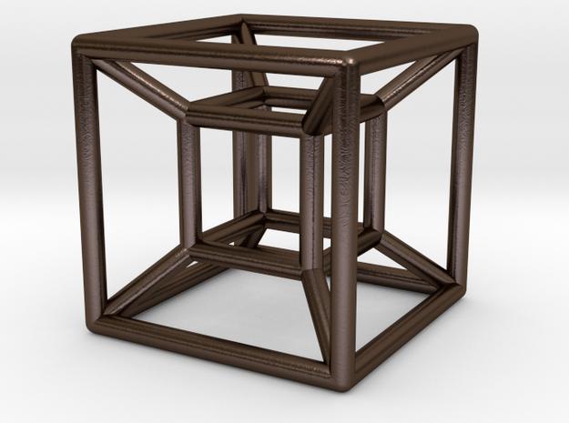 "1"" Wireframe Hypercube 3d printed"