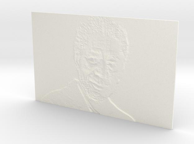 Morgan Freeman  in White Processed Versatile Plastic