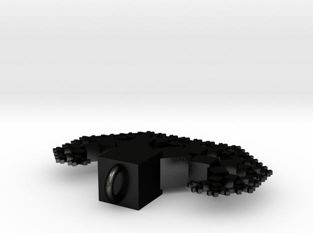 pythagoras tree pendant  3d printed