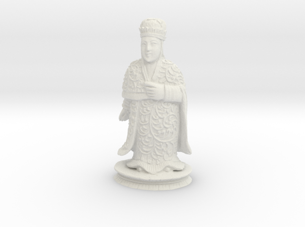 Traditional Cantonese Bishop Statuette 232mm in White Natural Versatile Plastic