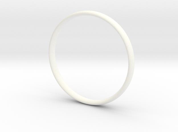Bangle3 in White Processed Versatile Plastic