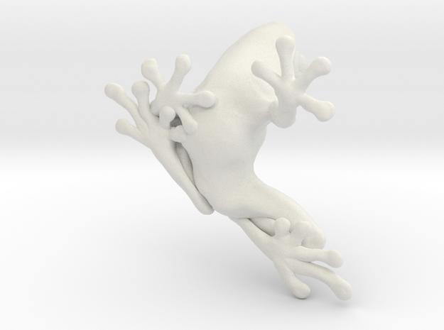 "Tree Frog ""Des"" - 3cm in White Natural Versatile Plastic"