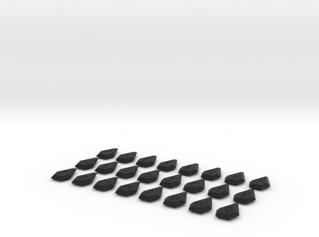 Gem Rune Set 3d printed