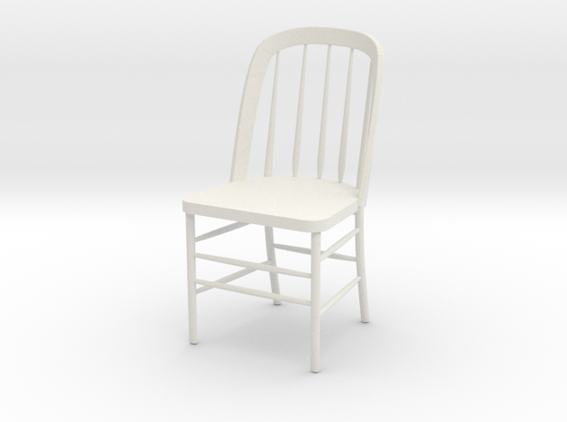 "Eustis Edison Chair Miniature 4"" tall in White Strong & Flexible"