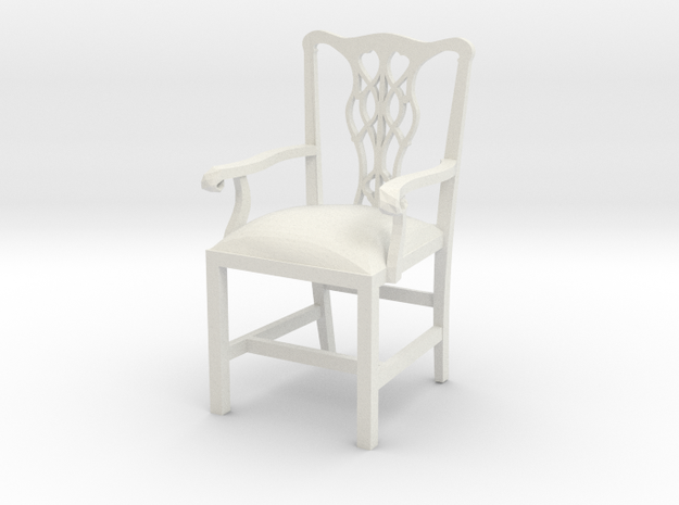 """Cambridge Councill Arm Chair 3"""" tall in White Natural Versatile Plastic"""