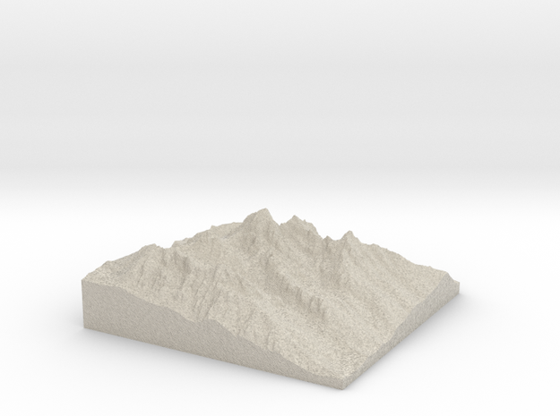 Model of Teepe Glacier 3d printed