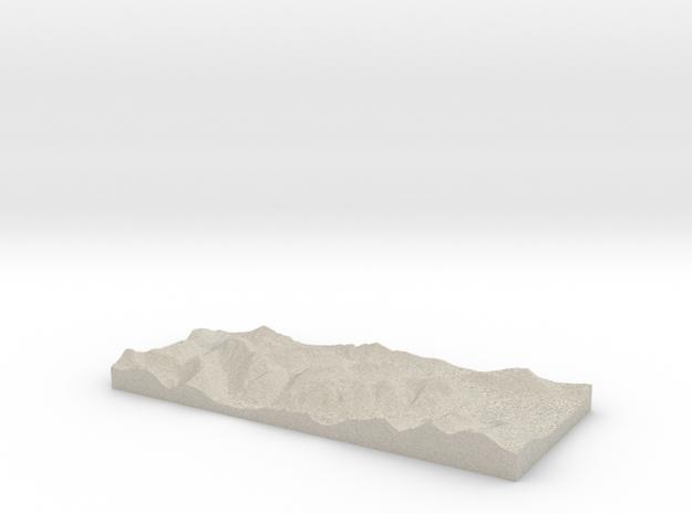 Model of Stob Coire Raineach 3d printed