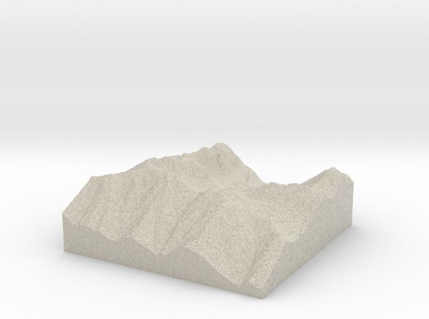 Model of Silver Lake in Natural Sandstone