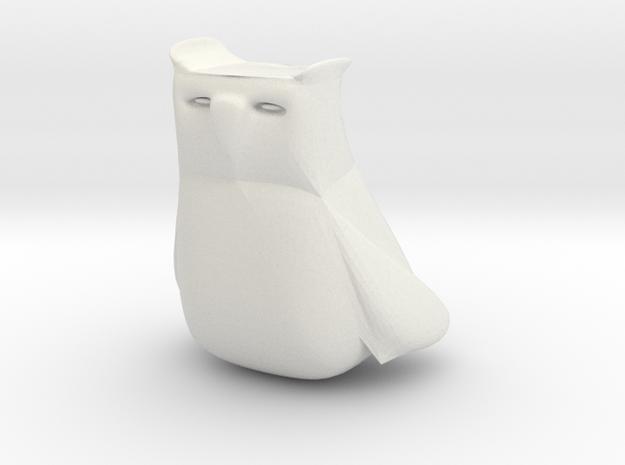 OWL in White Natural Versatile Plastic
