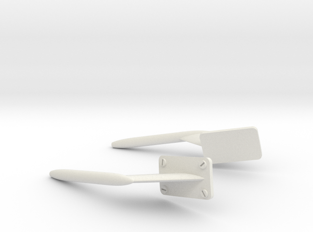 Scale AW139 Pitot Head in White Natural Versatile Plastic