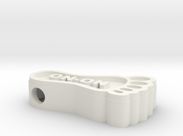 Hashfoot Hollow Bead - large in White Strong & Flexible