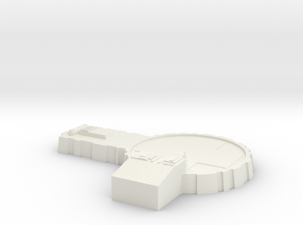 AMT Model Moonbase Landing Pad True Scale in White Natural Versatile Plastic