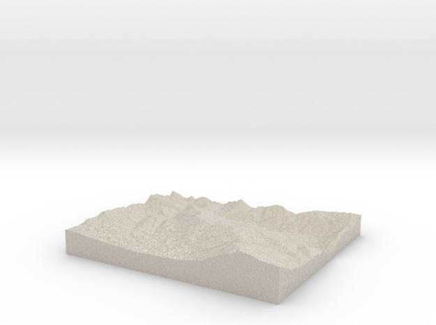 Model of Bear Valley 3d printed