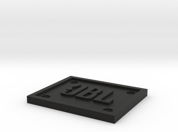JBL Emblem/Logo for Fender Amplifiers in Black Natural Versatile Plastic