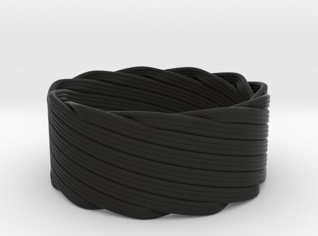 Single Stranded Matthew Walker Knot Napkin Ring 3d printed