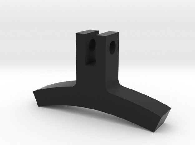 Elbow Hinge in Black Natural Versatile Plastic
