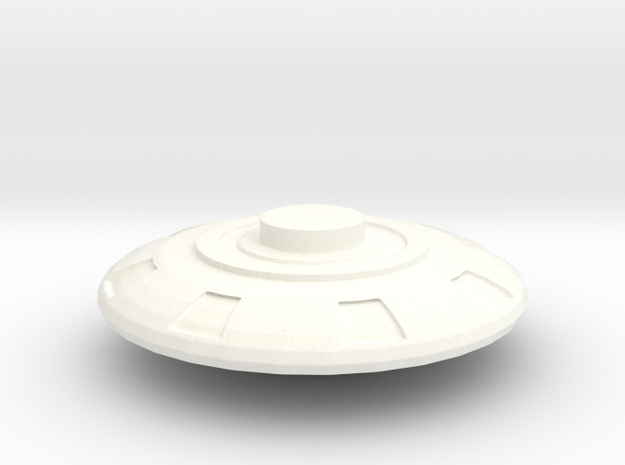 Dome Extention Part in White Processed Versatile Plastic