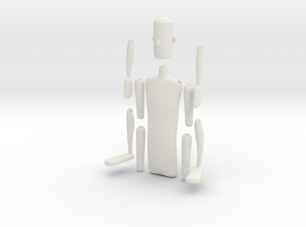 String action figure in White Strong & Flexible