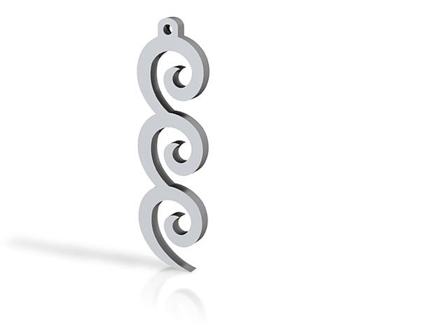 Curvy Earings 3d printed