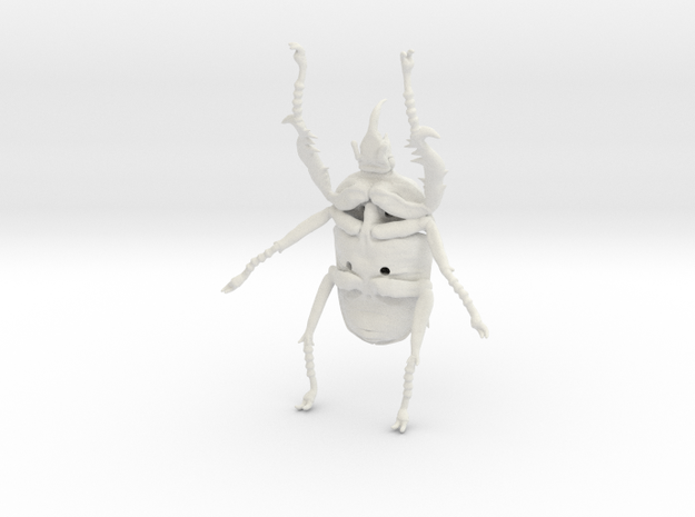 Giant Beetle - Goliath 9cm - Scarab in White Natural Versatile Plastic
