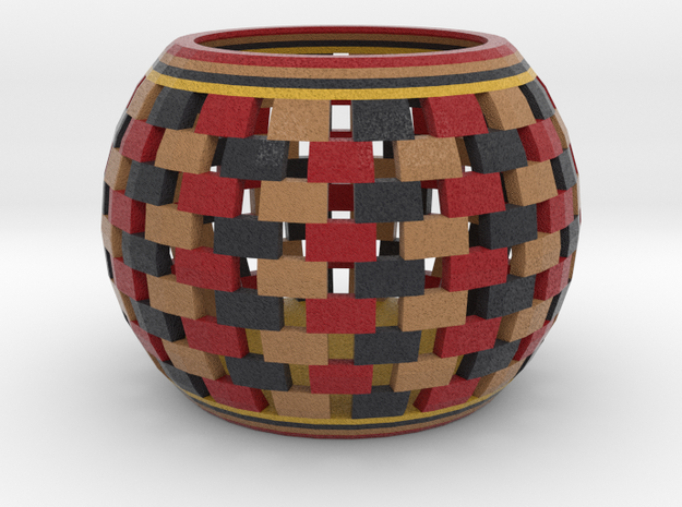 DRAW bowls - segmented multicolor in Full Color Sandstone: Small