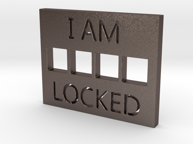LOCKED in Polished Bronzed Silver Steel