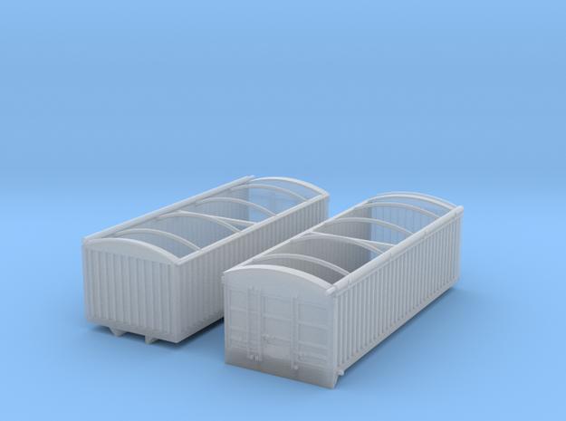 1:160 N Scale 22' Aluminum Grain Truck Box in Smooth Fine Detail Plastic