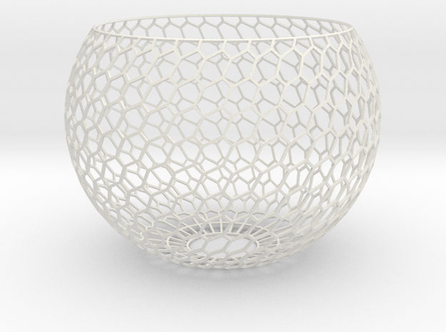 Lamp Shade_6h_1 in White Natural Versatile Plastic