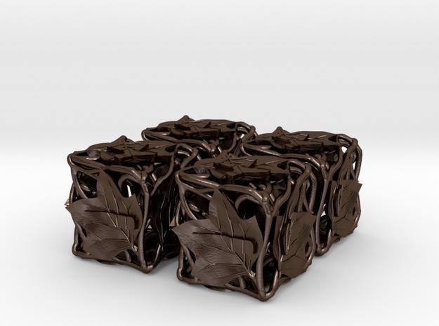 Fudge Botanical Die6 (Tulip Tree) 4d6 Set 3d printed