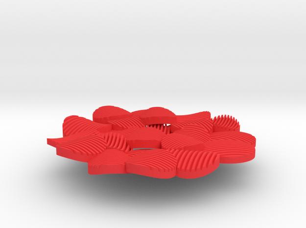 Leaf Blossom Pendant 3d printed