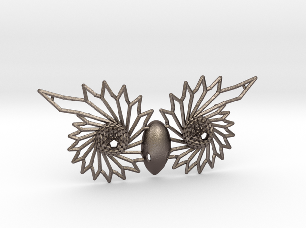 Owl Eyes - 7cm in Polished Bronzed Silver Steel
