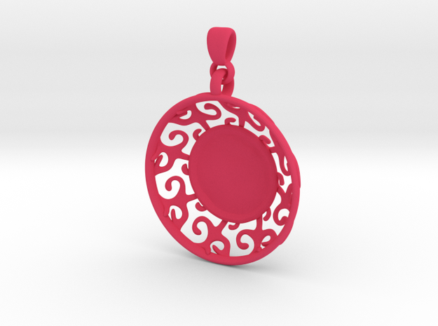 Organic Swirly Pendant 3d printed