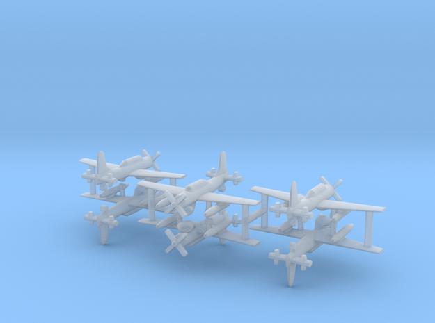 1/600 AD-4W (AEW.1) Skyraider (x6) in Smooth Fine Detail Plastic