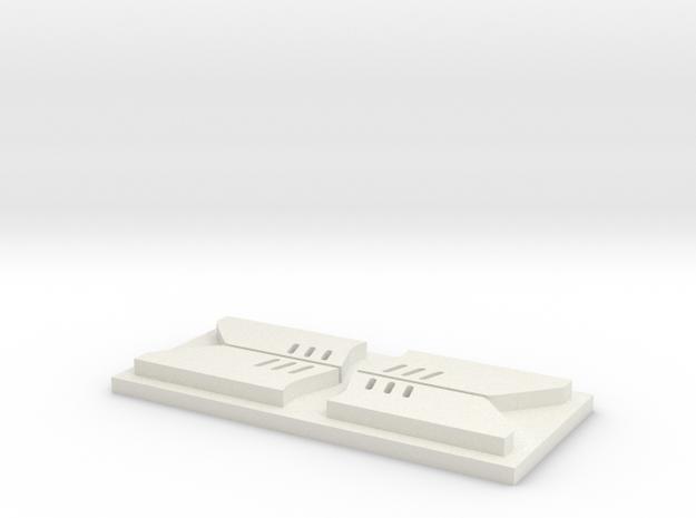 Zgarniacze EU05 in White Natural Versatile Plastic