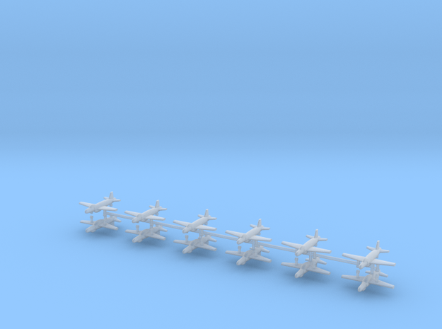 1/600 Supermarine Attacker F.1 (x12) in Smooth Fine Detail Plastic