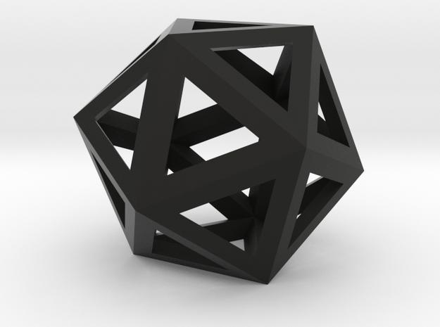 ikosaeder kante 3d printed