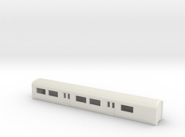 N Gauge Mk3 EMU TS1:148 in White Natural Versatile Plastic