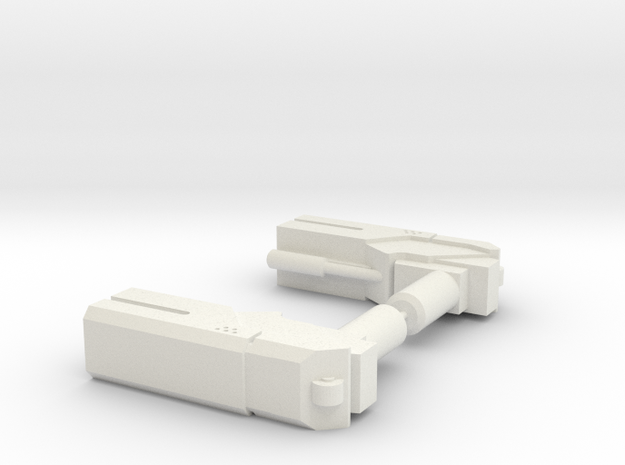 Hand Pistols in White Natural Versatile Plastic