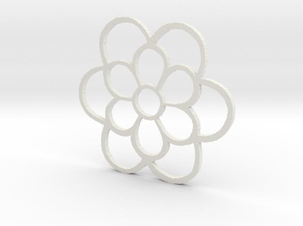 Early 14th Century Tile Pendant: Prior Crauden's C in White Natural Versatile Plastic