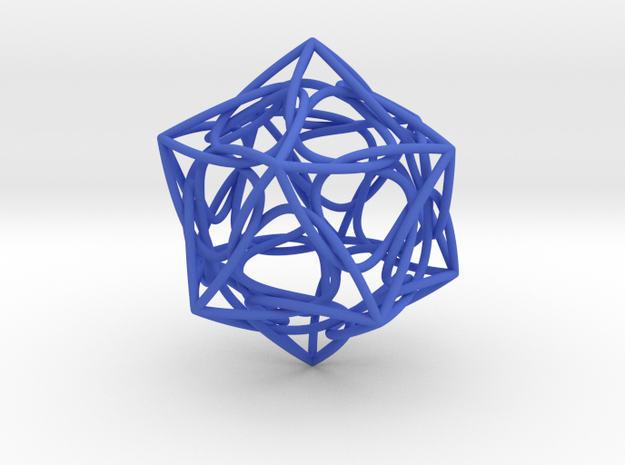 ikosaeder swirl 3d printed