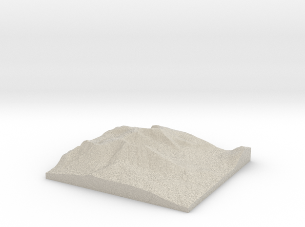 Model of Chimney Pond 3d printed