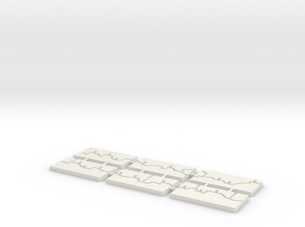 "1"" Building Set 10 - World War One Set 3 in White Natural Versatile Plastic"