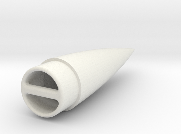 Ogive Nosecone for 18mm Tube 3d printed